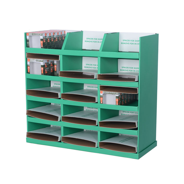 5 Tier Cardboard Floor Pasta Sauce Display Stand Shelf, Cardboard 5 Shelf Stand Display In China