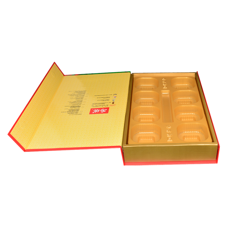 Custom Luxury Fancy Paper Magnetic Cardboard Gift Box for Mooncake Packaging With Plastic Insert