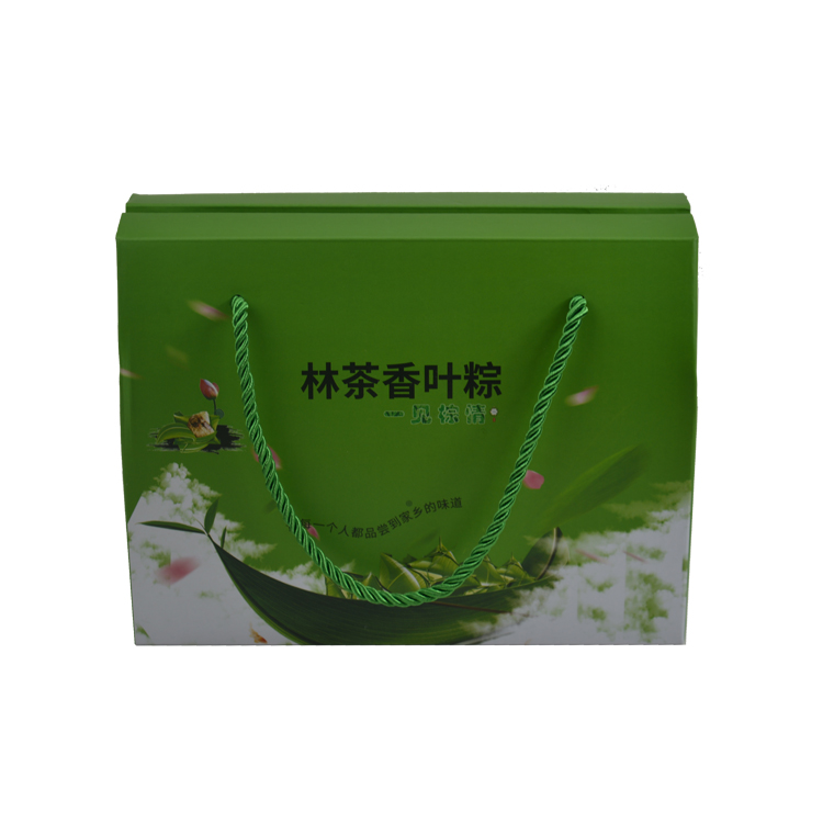 Shenzhen Manufacture Wholesales Custom Green Printing Corrugated Paper Packaging Box With Handle