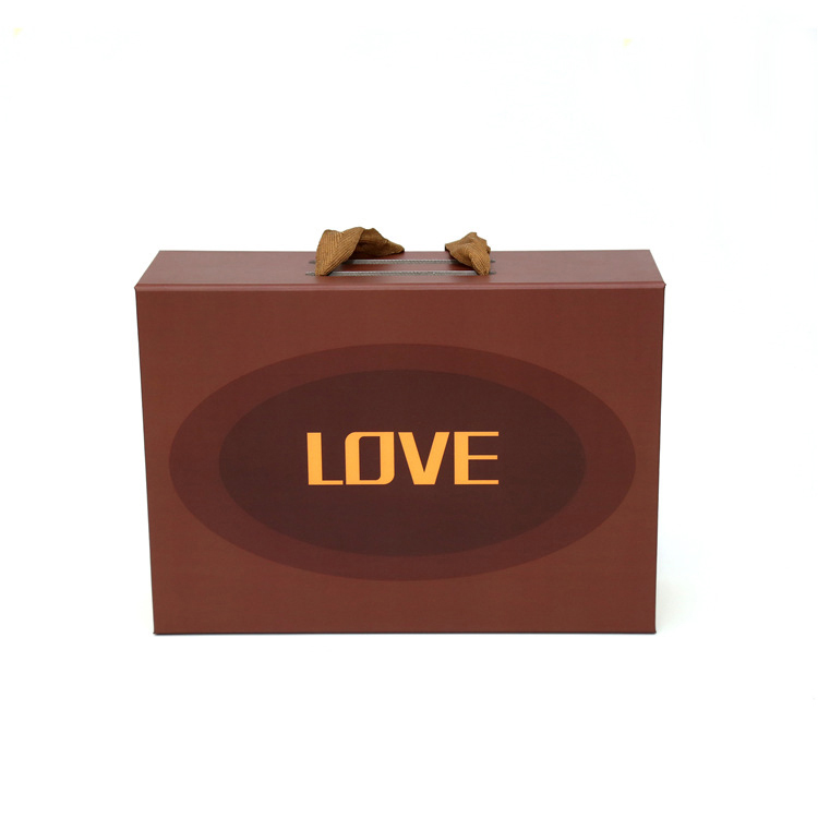Wholesales Custom Printing Luxury Folding Magnetic Closure Hair Wig Extension Packaging Box With Ribbon
