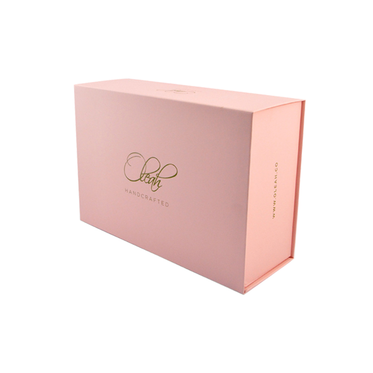 High-End Foldable Magnetic Pink Rigid Cardboard Paper Packaging Gift Box With Ribbon For High Heel