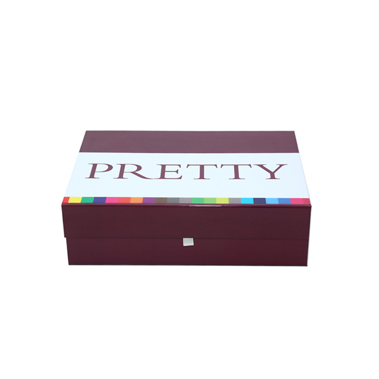 Customized Print Magnetic Folding Rigid Paper Gift Box For Bikini Packaging With Glossy Lamination
