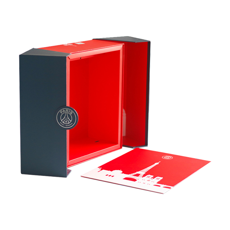China Custom Luxury Printing Rigid Cardboard Two Side Closure Display Gift Box For Perfume With Gold Foiled Logo