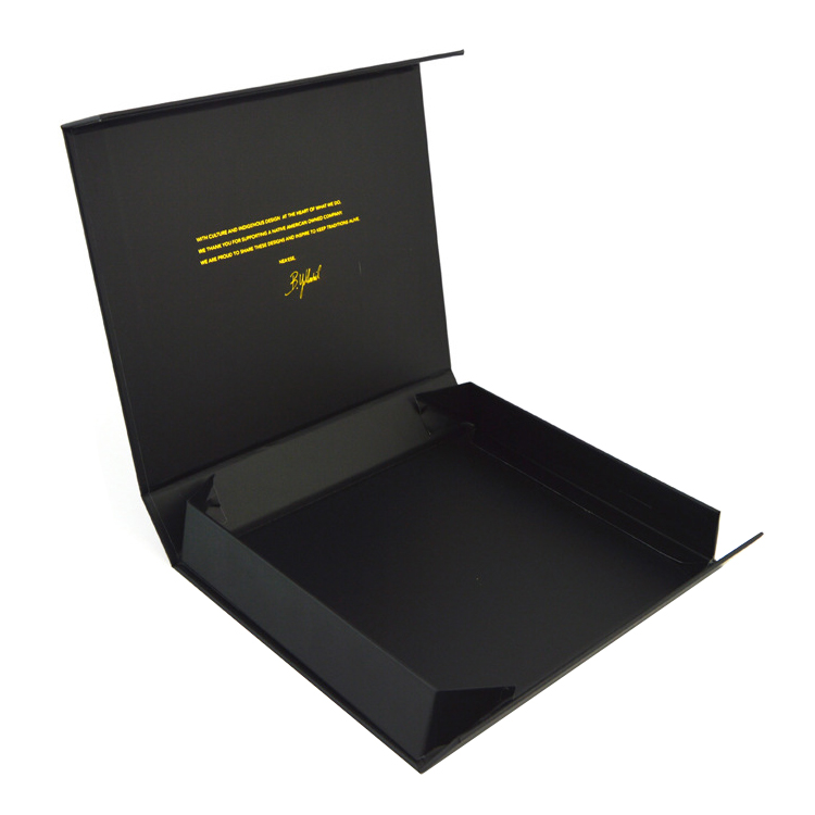 Wholesales Gold Foiled Logo Collapsible Magnetic Paper Rigid Folding Gift Box For Apparel From Guangzhou