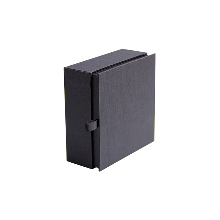 Shenzhen Wholesales Matte Black Textured Fancy Paper Packaging Gift Box With Magnetic Lid With Foam Insert