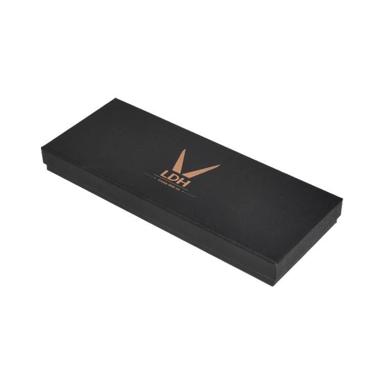 Luxury Rigid Paper Two-Piece Gift Boxes for Kitchenware Scissors with Gold Stamped Logo and EVA Foam Insert