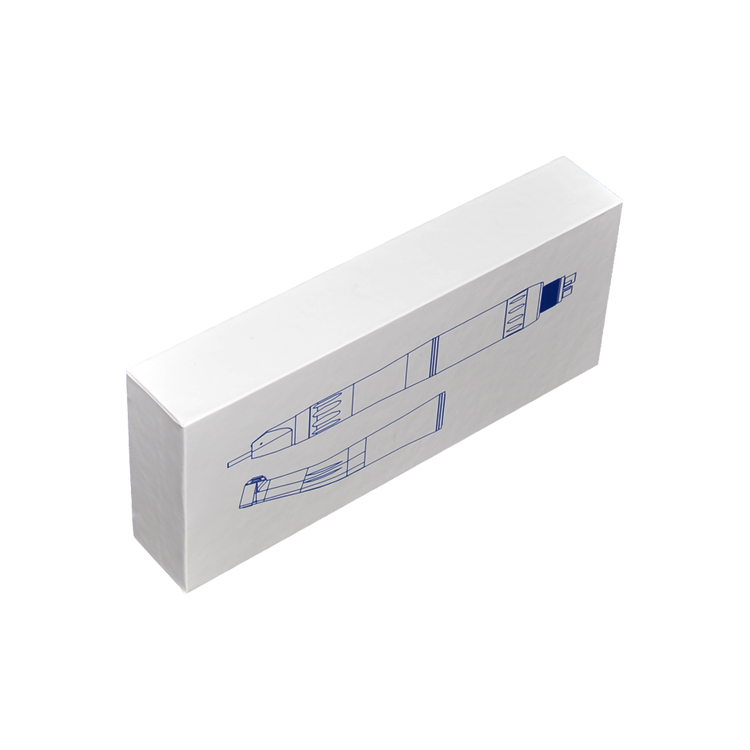 Custom Printing Matte White Rigid Carboard Packaging Gift Box for Toothbrush with EVA Holder