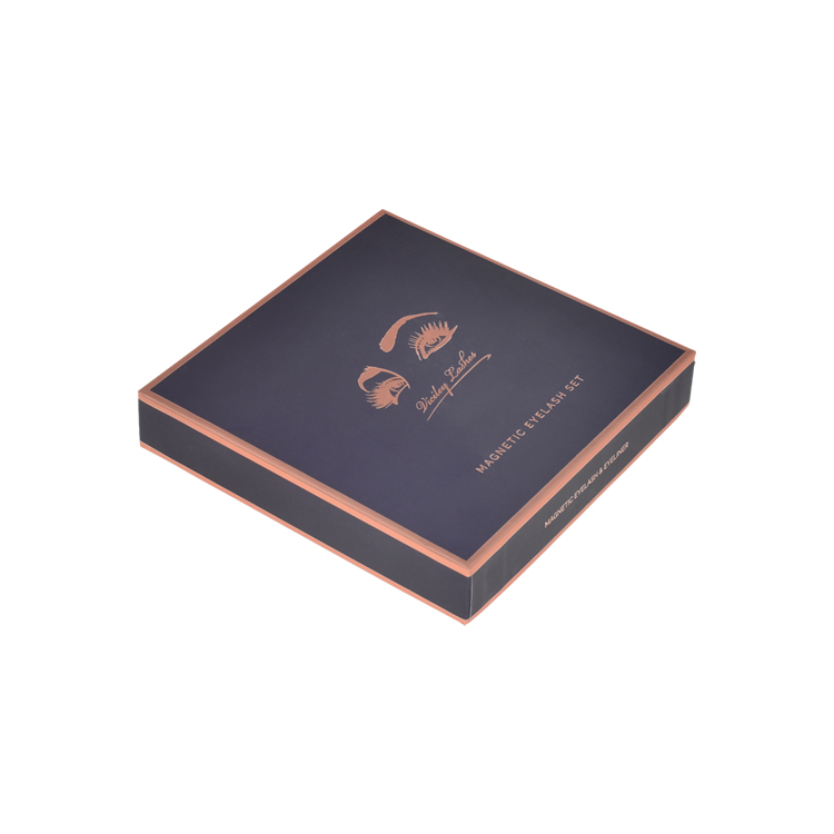 Custom Lid and Base Style False Eyelash Packaging Paper Box with EVA Foam Tray and Hot Foiled Logo