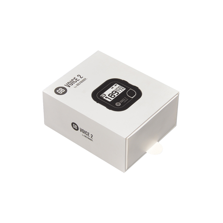 Rigid Paper Sliding Out Drawer Gift Box for Smart Watch with Cardboard Insert and Spot UV logo