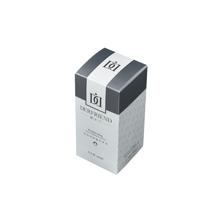 Custom Silver Folding Carton Packaging for Essence Eye Cream with Embossed Logo and Spot UV