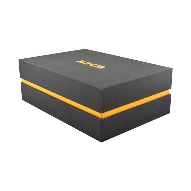 The Satin Lined Lid and Base Gift Boxes for Lingerie Packaging with Gold Foiled Logo and Satin Insert