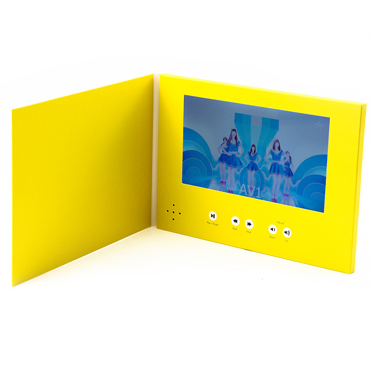 Customized Printing 7 Inch LCD Screen Display Video Brochure For Advertising and Business Promotion