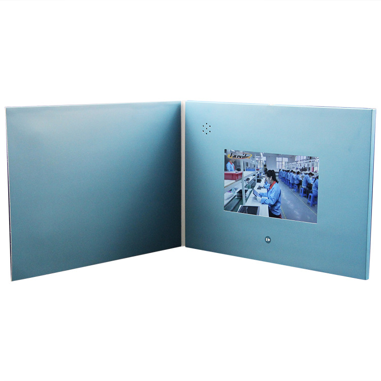 China Rectangular Advertising A4 Custom Printed 4.3 Inch TFT LCD Video Brochur for Video Advertising