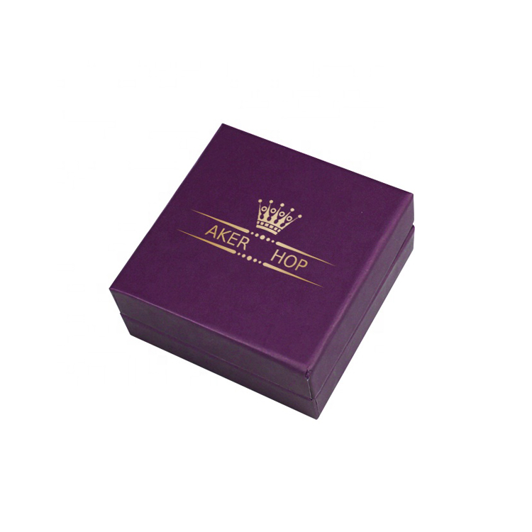 Custom Fancy Paper 2 Piece Rigid Boxes with Drawstring Pouch and Gold Foil Logo for Jewelry Packaging