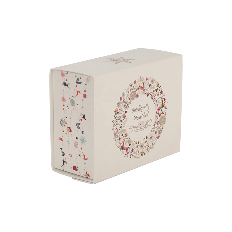 Foldable Collapsible Rigid Luxury Matte White Magnetic Closure Paper Gift Box with Changeable Ribbon