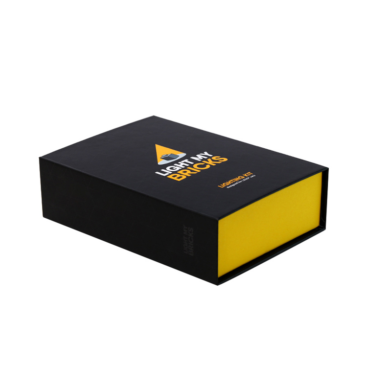 Best Price Custom Luxury Rigid Paper Magnetic Gift Box for LED Lighting Kit with Gold Hot Stamping Logo