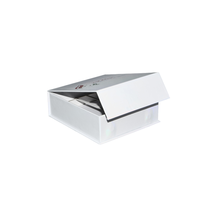 Custom Magnetic Box Packaging Magnetic Closure Gift Box with Holographic Logo and Cardboard Holder